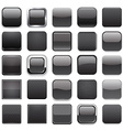 Square black app icons vector