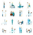Doctor and nurses set vector