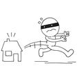 Thief running away vector