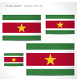 Suriname flag template vector