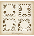 Set of calligraphic vintage frame vector