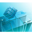 Tech business design composition vector