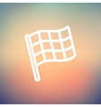 Chekered flag for racing thin line icon vector