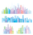 Colorful panorama of cities vector