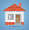 Traditional house icon vector