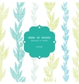 Blue green seaweed vines frame seamless pattern vector