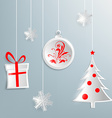 Christmas background with christmas decorations vector