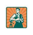 Retro photographer icon vector
