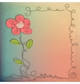 Hand drawn floral background with detailed frame vector