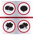 Speech bubble icons black icon  flat design style vector