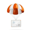 Mail delivery parachute vector