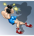 Shadow boxing vector
