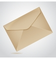 Envelope of brown paper vector