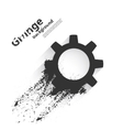 Grunge background with gear vector