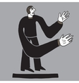 Sad man with long hands vector