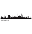 Istanbul city silhouette vector
