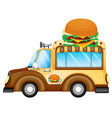 A vehicle selling burgers vector
