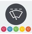 Car flat icon wiper vector