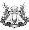 Heraldry lions vector