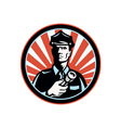 Policeman security guard vector