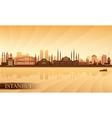 Istanbul city skyline vector