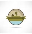 Eco home icon vector
