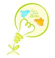 Eco light bulb vector