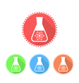 Simple icons of conical flask vector