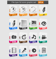 File type 3d icons set vector