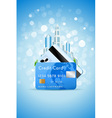 City and credit card vector