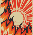Grunge fire background vector