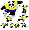 Panda soccer brasil all action vector