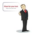Smiling businessman cartoon character template vector
