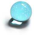 Snowflakes crystal ball vector