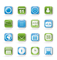 Mobile phone and communication icons vector