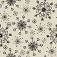 Hand draw snow flakes seamles patern vector