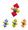 Business icon set logo vector