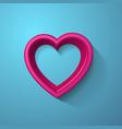 3d heart frame vector
