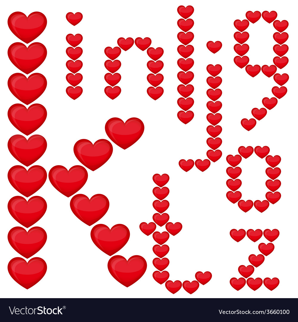 Alphabet from the heart vector   Price: 1 Credit (USD $1)