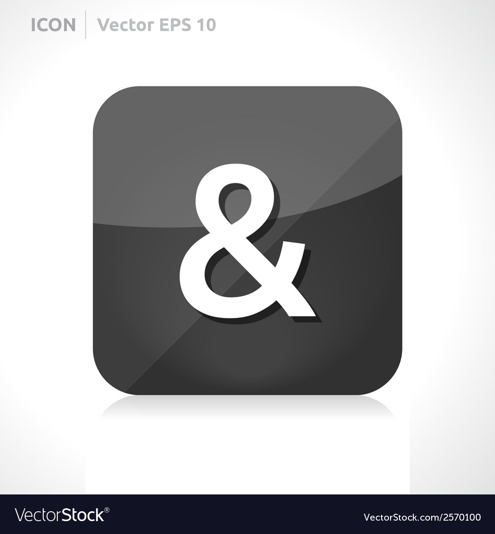 Ampersand icon vector | Price: 1 Credit (USD $1)
