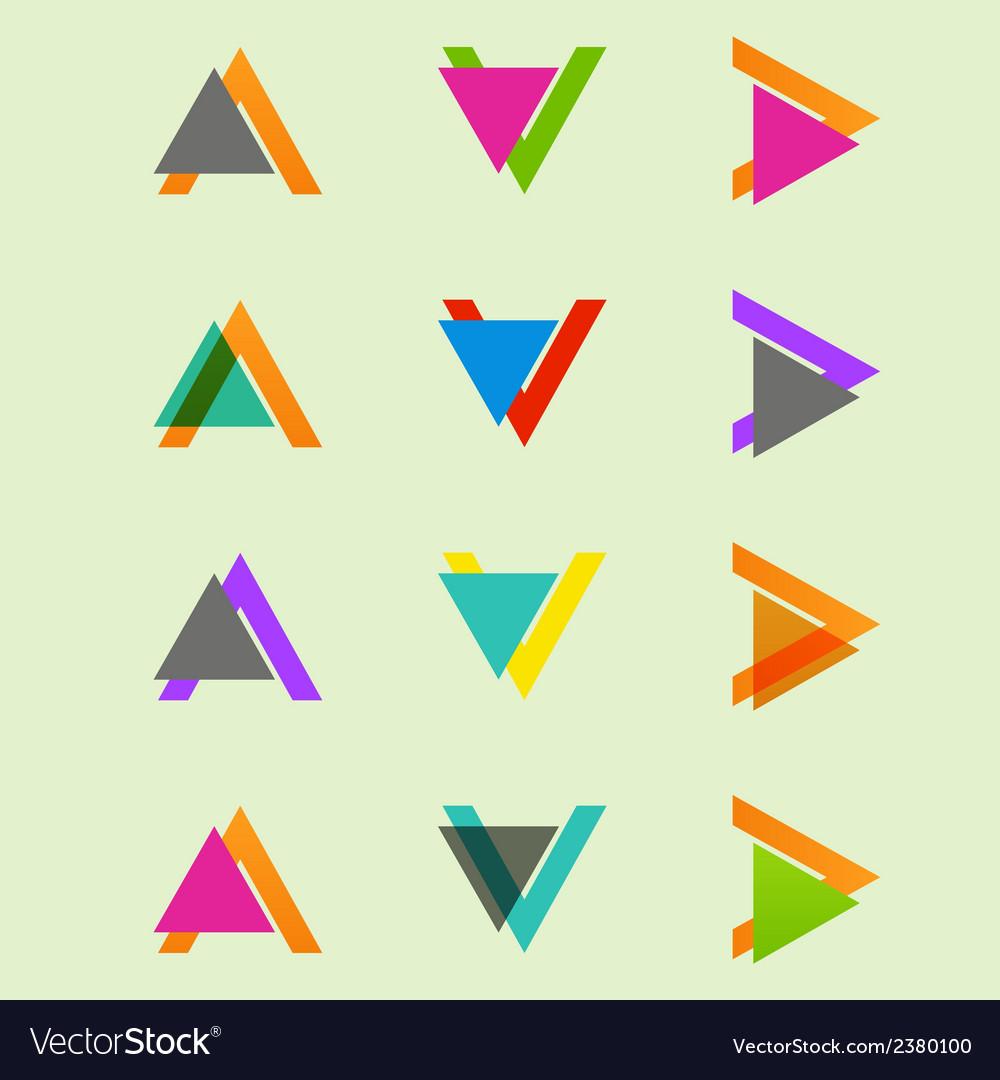 Arrow sign icon set design eps10 vector | Price: 1 Credit (USD $1)
