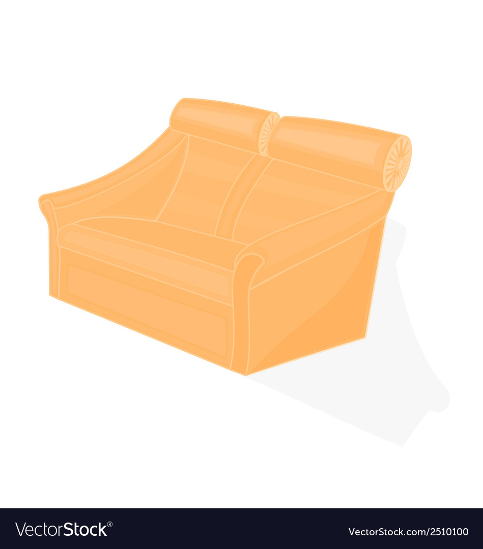 Beige-velvet-chair vector | Price: 1 Credit (USD $1)