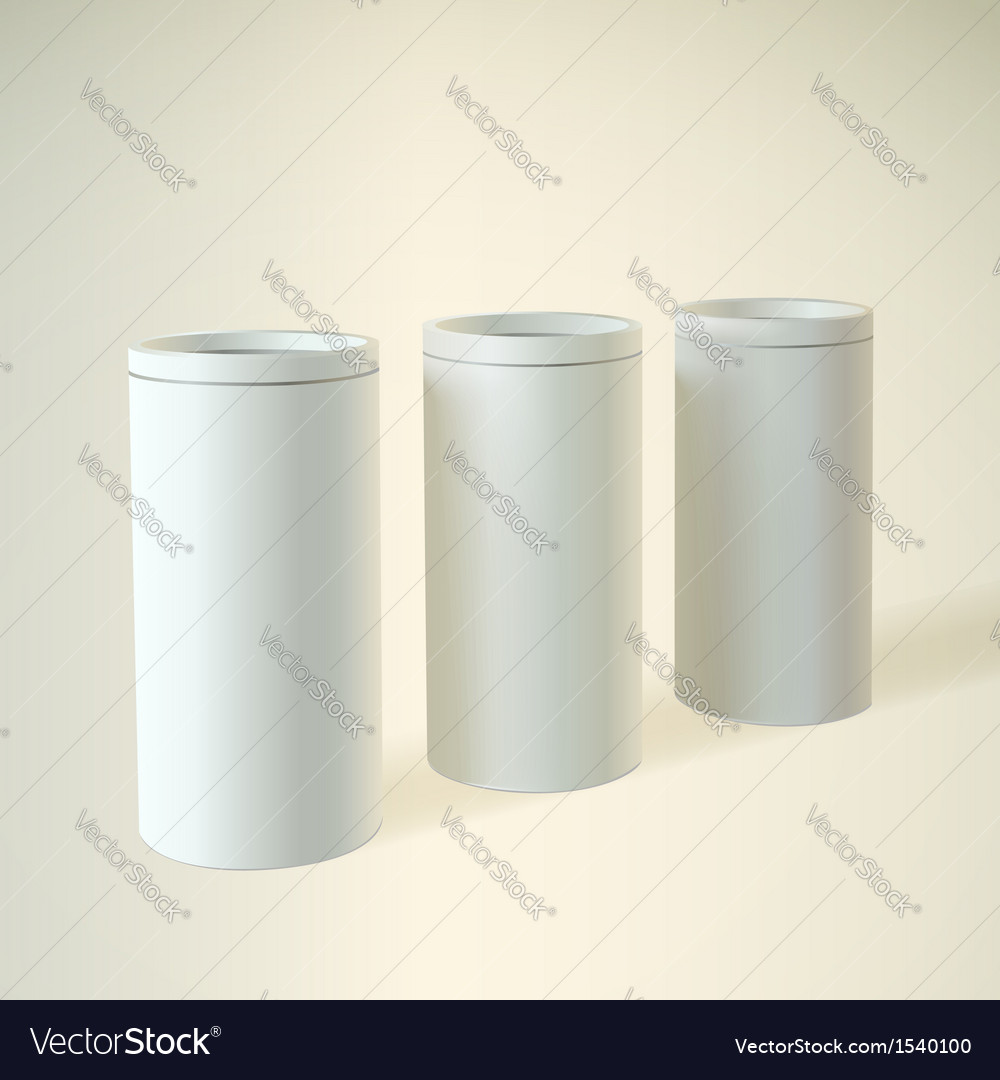 Blank white round tube or box vector | Price: 1 Credit (USD $1)
