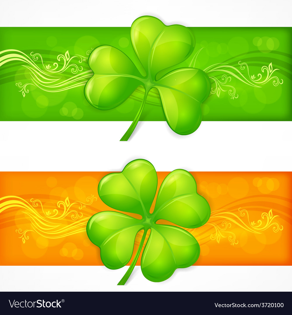 Clover banners vector | Price: 1 Credit (USD $1)