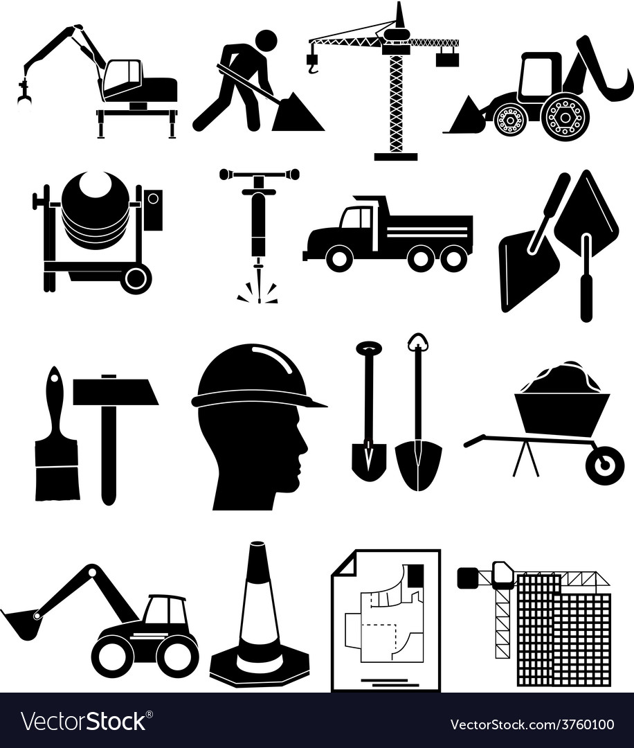Construction icons set vector | Price: 3 Credit (USD $3)