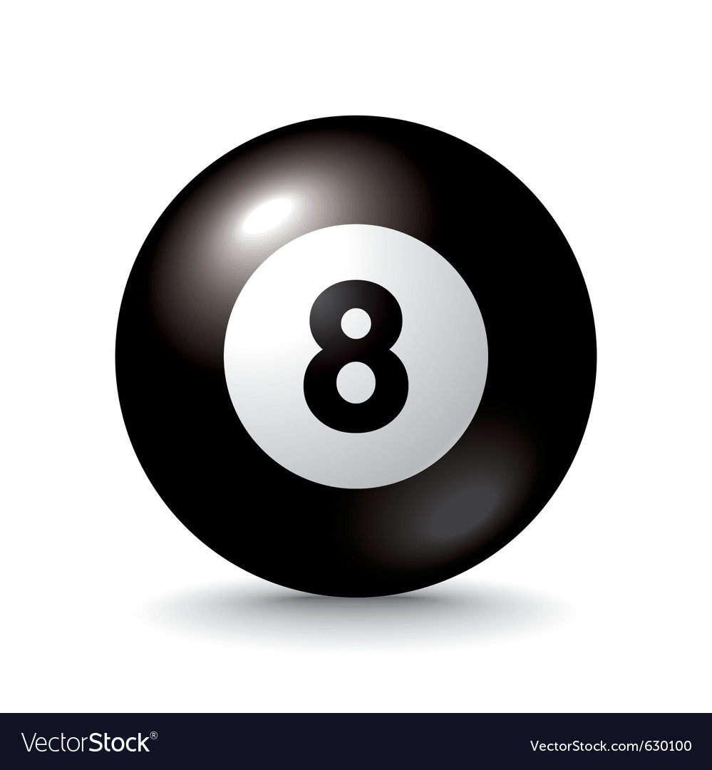 Eight ball icon vector | Price: 1 Credit (USD $1)