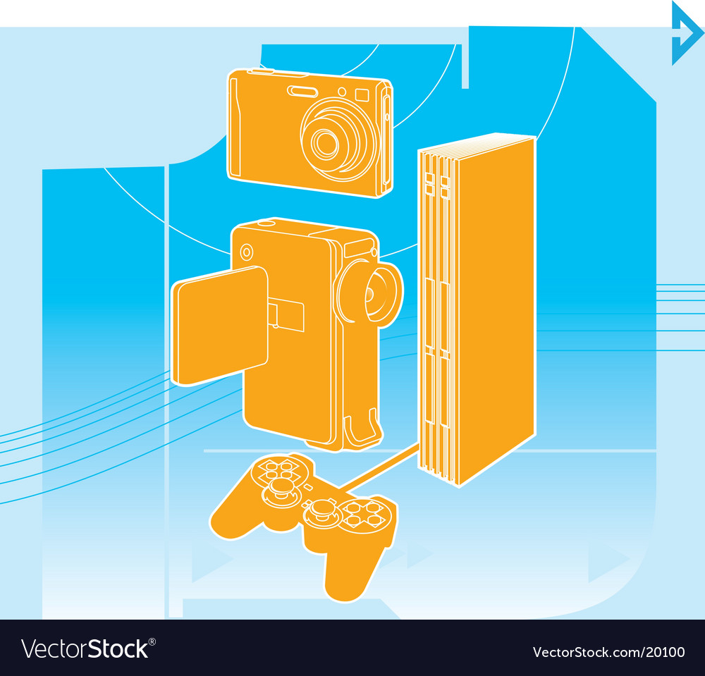 Entertainment technology vector | Price: 1 Credit (USD $1)