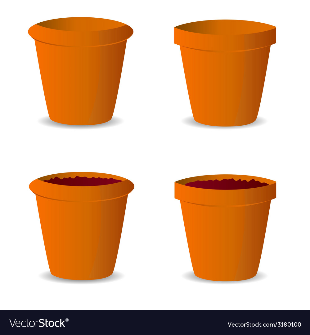 Flowerpot vector | Price: 1 Credit (USD $1)