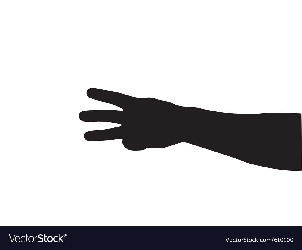 Hand gesture vector | Price: 1 Credit (USD $1)