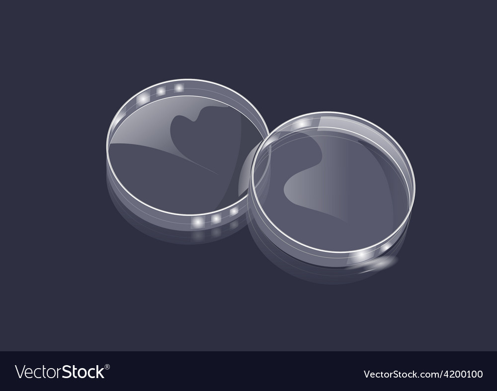 Lab and petri dish vector | Price: 1 Credit (USD $1)